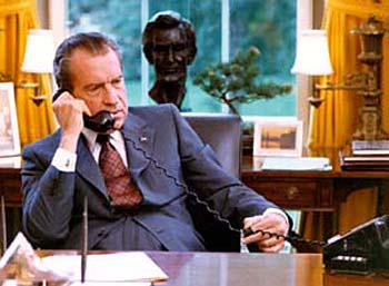 Nixon at his White House desk