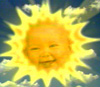 Baby Sun coos from the sky