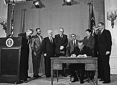 LBJ signs bill creating CPB, 1967