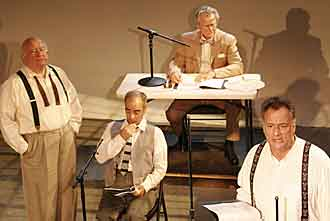 Ed Asney in staging of Monkey Trial transcript