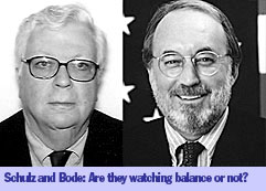 William Schulz and Ken Bode, CPB's dual-track ombudsmen
