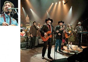 Nelson sang in Austin City Limits' pilot in 1975 (above left) and fronted the country swing band Asleep at the Wheel more recently (above right). He's also partner in the big Austin redevelopment that will house the program's new theater. (Photo at right: Scott Newton, KLRU.)