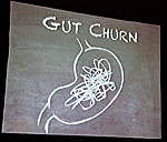 "Abumrad's hand-drawn  illustration of ""gut churn"""