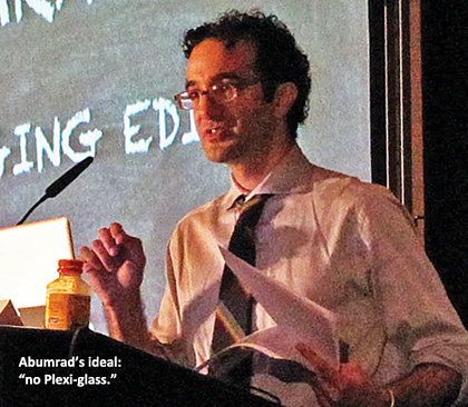 Jad Abumrad speaking at PRPD Sept. 2011