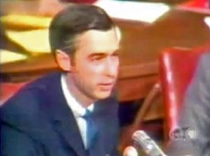 Fred Rogers testifies in Senate hearing