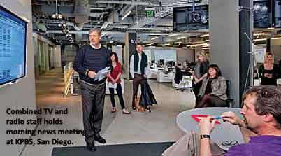 Staff meets in new KPBS newsroom