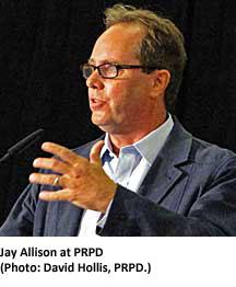 """Jay Allison delivers a PRPD """"benediction."""" (Photo: David Hollis, PRPD.)"""