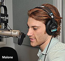 Malone on mic