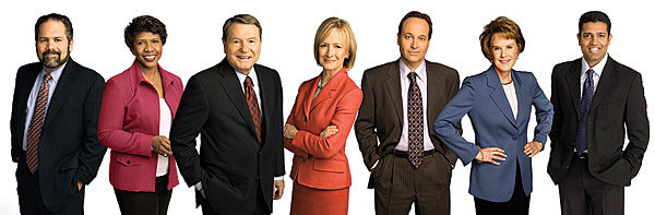 Jim Lehrer and six of his successors