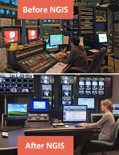 Vermont PTV control room before and after NGIS
