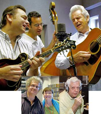 """Legacy"" isn't a veiled insult at WAMU, where bluegrass music like the Del McCoury Band's is presented by live deejays Lee Michael Demsey, Katy Daley and Ray Davis. (Photos: WAMU.)"