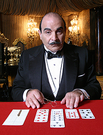 David Suchet reprises his role as sleuth Hercule Poirot in two mysteries airing next winter. (Photo: Acorn Productions LTD and RJLE, Inc.)
