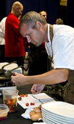 David Crews is one of 15 chefs who compete in  Louisiana Public Broadcasting's Great American Seafood Cook-off, a show highlighting regional cooking styles.