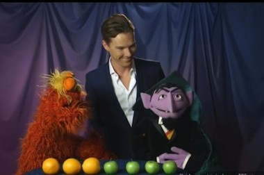 Benedict Cumberbatch and a few Muppets