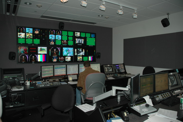 Boston's WGBH and WGBX share a master control room, but the future of the broadcaster's second license is in doubt with changes in technology coming. (Photo: Scott Fybush)