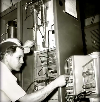 Parsons at work, in an undated photograph. (Photo: University of Utah)