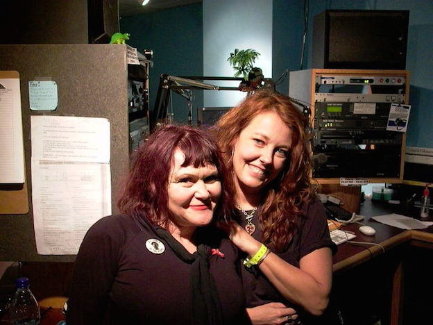 Heather Lose, right, with punk singer Exene Cervenka after an interview at the WRVU studios. (Photo: Heather Lose)