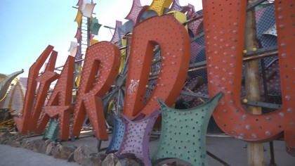 At Las Vegas's Neon Boneyard, neon signs wait in the dry heat to be rediscovered by tourists.