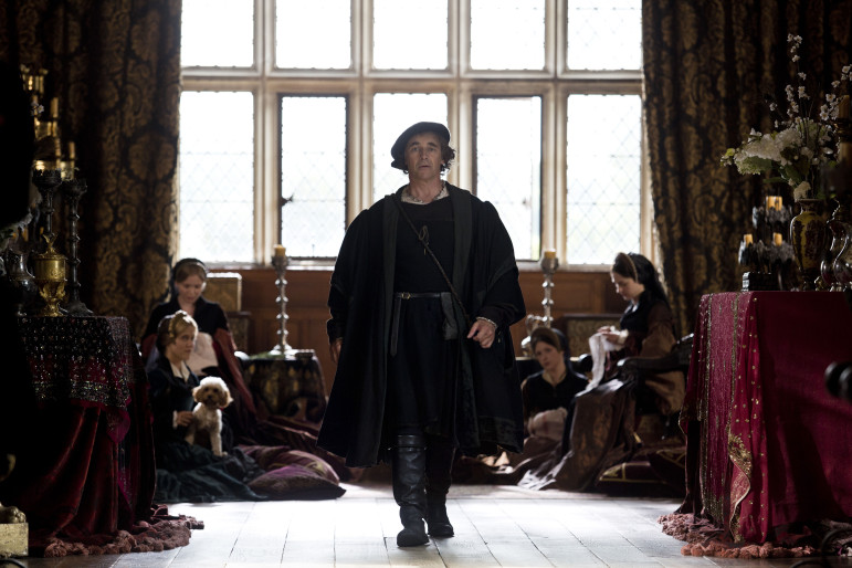 Thomas Cromwell, portrayed by Mark Rylance, climbs his way to power in the court of King Henry VIII in Wolf Hall. (Photo: Giles Keyte, Playground & Co. Pictures)