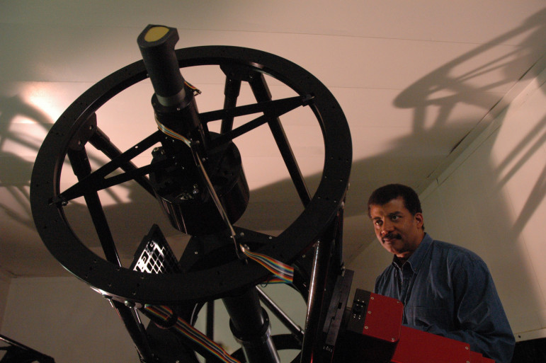 Neil deGrasse Tyson visits an observatory on Mount Hopkins in an episode of Nova ScienceNOW. Since he began hosting programs for PBS's Nova more than a decade ago, the astrophysicist acquired fame and influence to become as one of the most prominent scientists in the U.S. (Photo: Julia Cort)