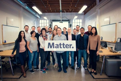 Matter CEO Corey Ford with the CEOs of the six ventures of Matter Four. (Photo: Matter)