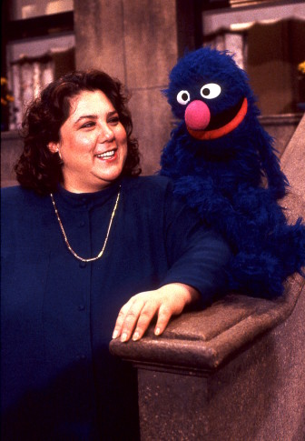 Lisa Simon with Grover on the set of Sesame Street, which she helped produce and direct over four decades. (Photo: Sesame Workshop)