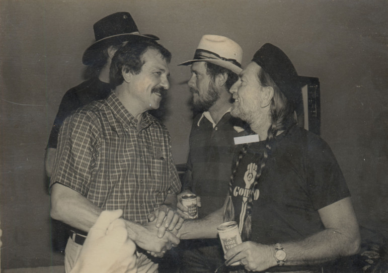 Arhos and Willie Nelson, who appeared on the first episode of Austin City Limits. (Photo: KLRU)