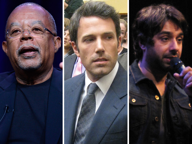 Gates (photo: PBS), Affleck (photo: Talk Radio News Service), Ghomeshi (photo: Ariane Colenbrander)