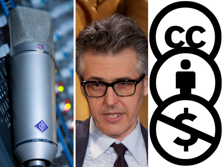 The Neumann U87 microphone (photo: David Preston), Ira Glass (photo: Peabody Awards), Creative Commons licenses