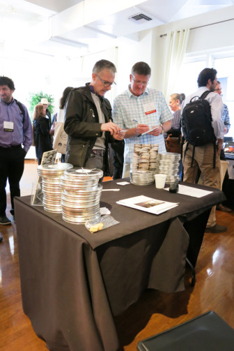 A stock footage client checks out content at the ACSIL's first Footage Expo in New York City. (Photo: ACSIL)