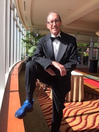 Bass decked out in his OPB shoes and tux for last week's regional Emmy Awards.