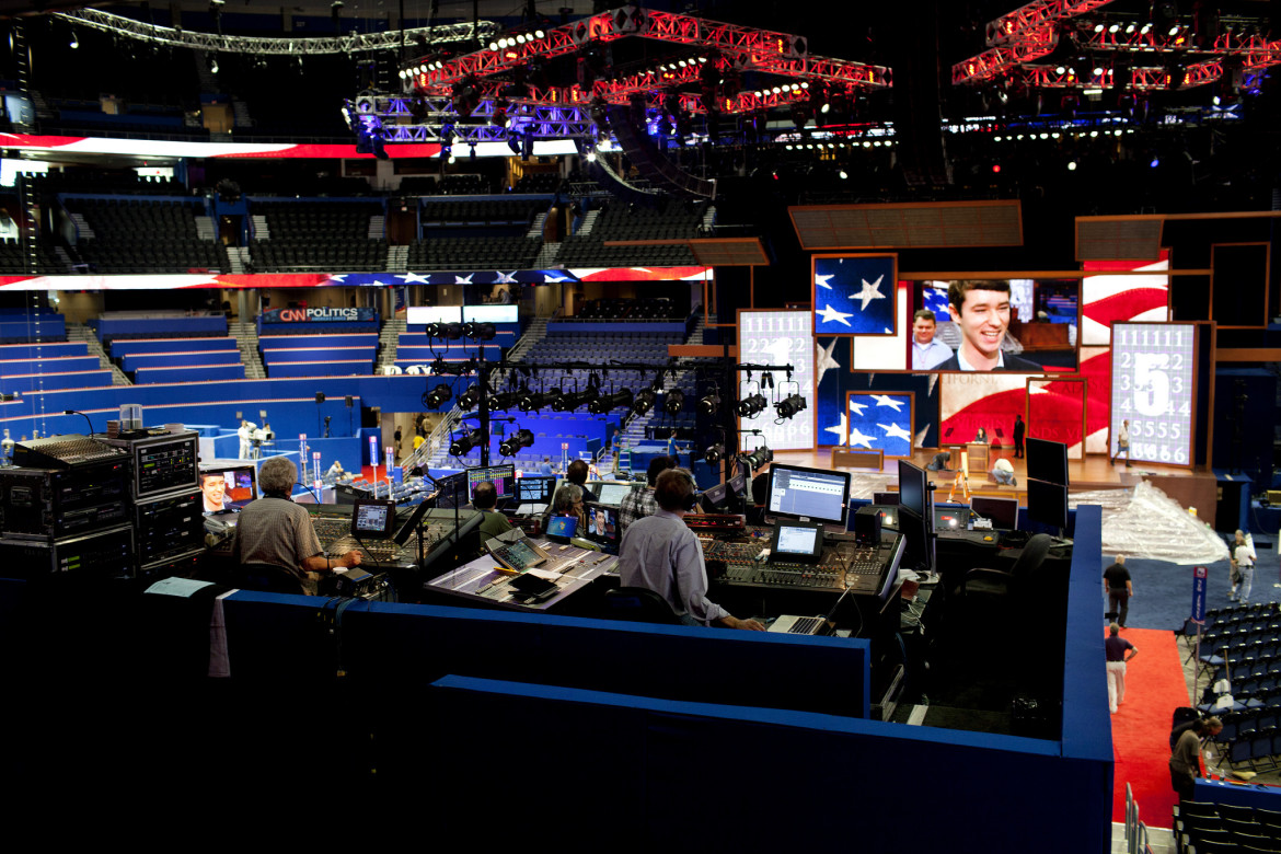 PBS NewsHour prepares for the Republican National Convention in 2012. (Photo: Flickr/PBS NewsHour)
