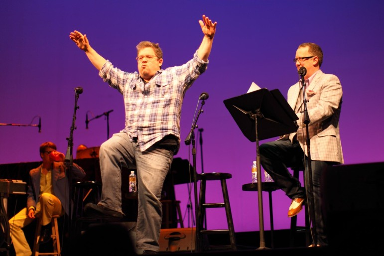 Comedian Patton Oswalt evokes the Karate Kid in a 2013 appearance on Wits. American Public Media Group announced this week that it is canceling the show. (Photo: sharyn morrow, via Flickr)