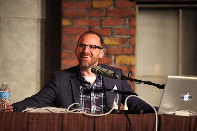 Roman Mars speaks at Podcast Movement 2015. (Photo: Podcast Movement)