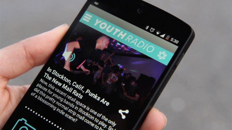 The Youth Radio App encourages users to interact with content, such as this story about Stockton, Calif. teens using a strip mall as a concert venue. (Photo: Youth Radio)