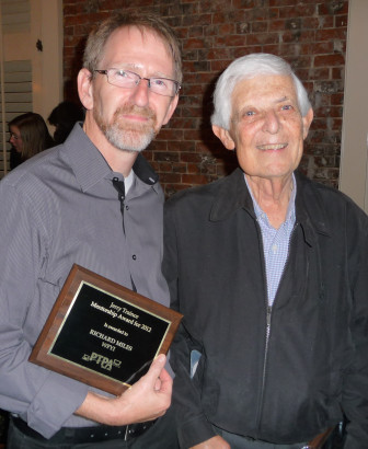 Zvi Shoubin, right, and Richard Miles celebrate their Public Television Programming Association mentorship honors in 2012. (Photo: Aundrea Hart)