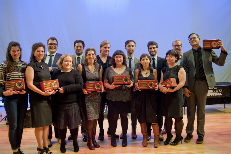 Winners of the 2015 Third Coast International Audio Festival awards. (Photo: Bill Healy)