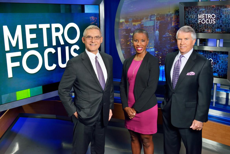 From left, MetroFocus hosts Rafael Pi Roman, Jenna Flannigan and Jack Ford. Photo: WLIW/Joseph Sinnott