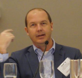 Josh Adams of Houston Public Media speaks at the summit. (Photo: Fiona James, Convergence Services)