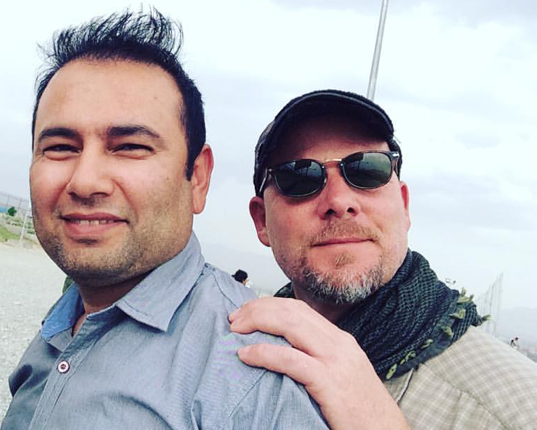 Translator Zabihullah Tamanna, left, and David Gilkey in Afghanistan. (Photo: NPR, Monika Evstatieva)
