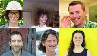 The 2016 Science Friday Educator Collaborative cohort is, clockwise from left, Beth Topinka, Susan Romano, Ryan Hollister, Ryan Becker, Katharine Hinkle and Samantha Adams.