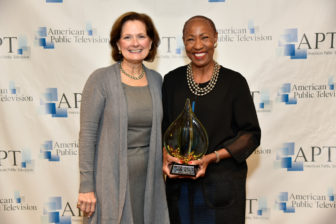 Cynthia Fenneman, left, APT president, with Jennifer Lawson. (Photo:Ed Shenkman)