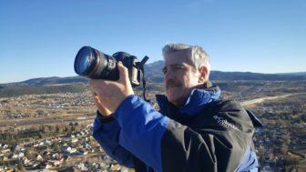 John Ferrugia shooting in mountains above Trinidad, Co (Photo: RMPBS)