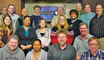 "Many WFUM staffers are likely to be job-hunting this summer as the University of Michigan seeks another organization to run it. ""If dedication to mission and staff commitment were the measure by which stations were funded,"" Station Manager Jennifer White wrote, ""Michigan Television would be well funded indeed."" (Photo: WFUM)"