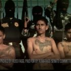 Campaign ad picturing tattooed gang members