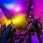 band singing to crowd