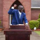 Pastor gives a sermon