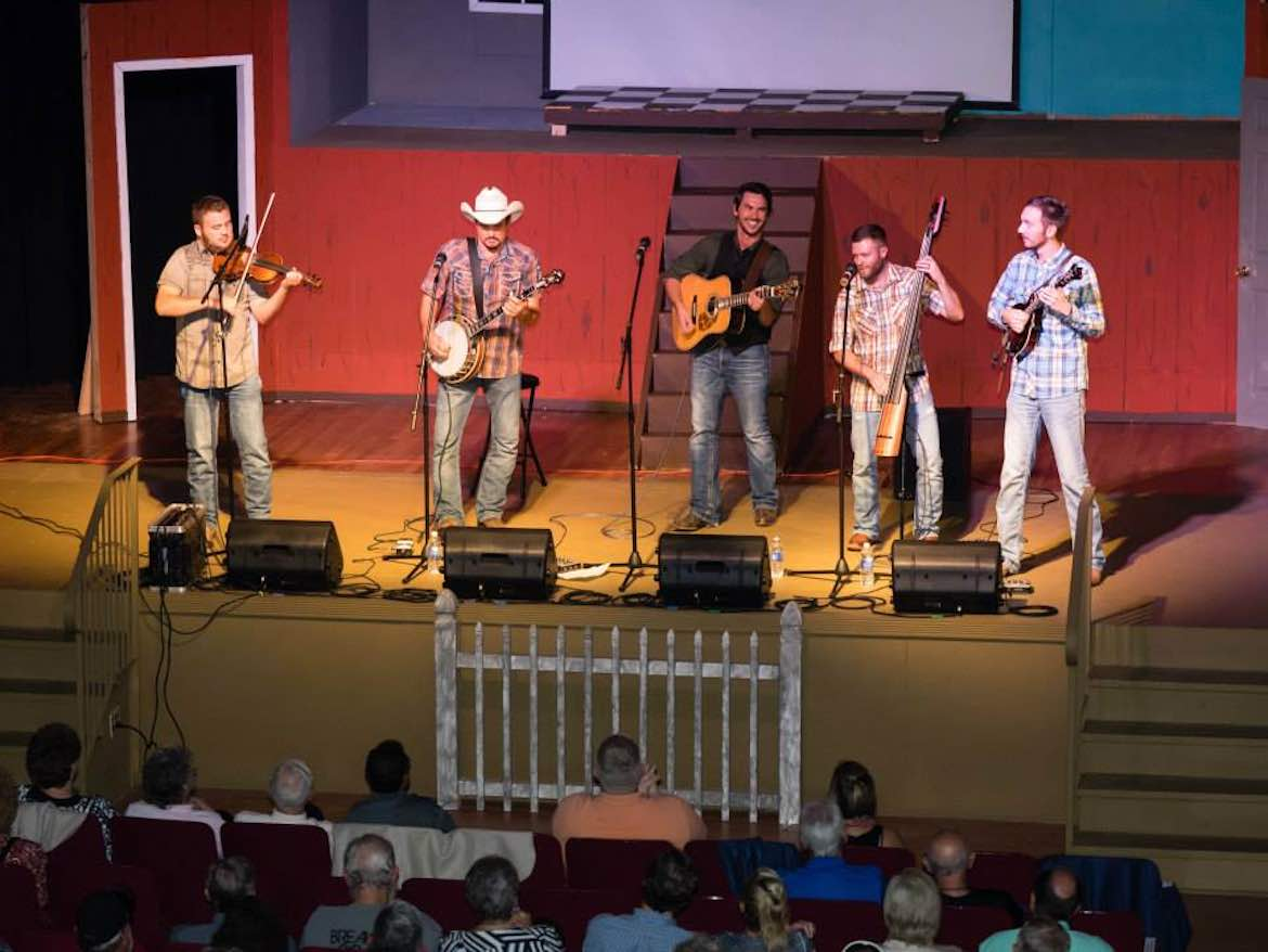 Breaking Grass performs at a Bluegrass Monday concert.