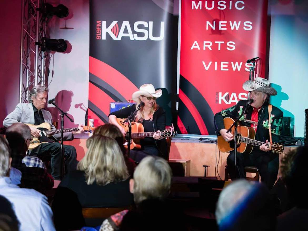 Nancy Apple & Friends at a KASU Coffeehouse Concert.