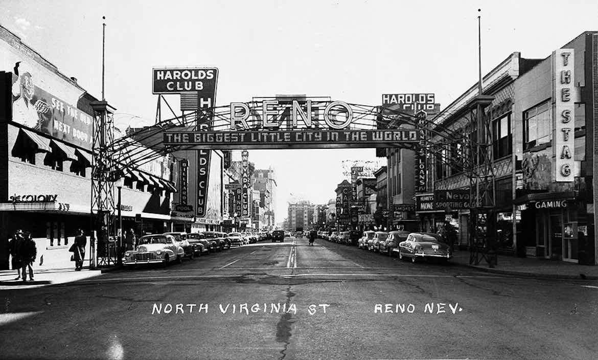 """The Reno Arch was erected in 1926 and remained in place until 1963. KUNR's segment """"Time & Place"""" has highlighted various topics about the history of Northern Nevada"""